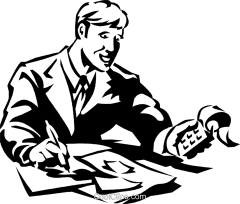 accountant Royalty Free Vector Clip Art illustration vc059988
