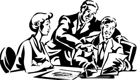 business meeting Royalty Free Vector Clip Art illustration vc059992