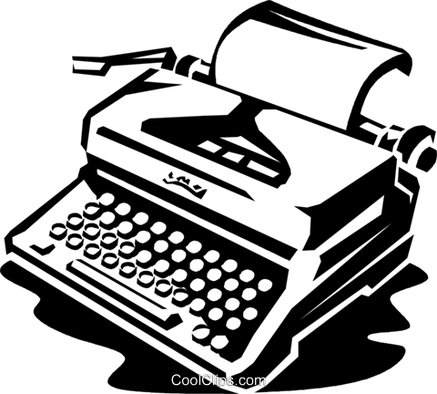 typewriter Royalty Free Vector Clip Art illustration vc059996