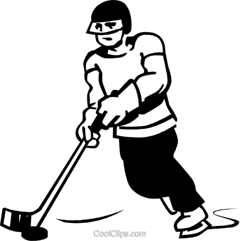 hockey player Royalty Free Vector Clip Art illustration vc060007