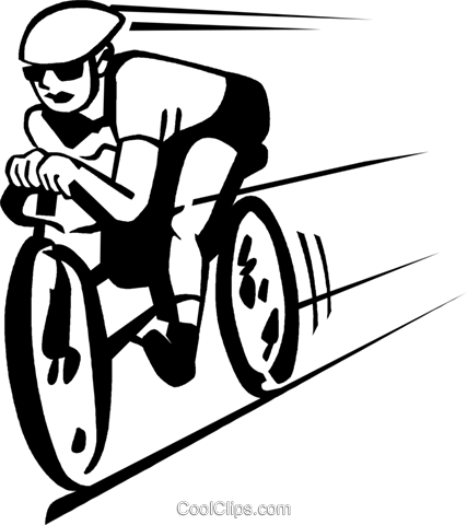 cyclist Royalty Free Vector Clip Art illustration vc060008