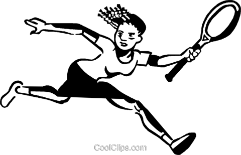Tennis player Royalty Free Vector Clip Art illustration vc060011