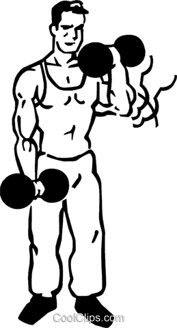 weightlifter Royalty Free Vector Clip Art illustration vc060014