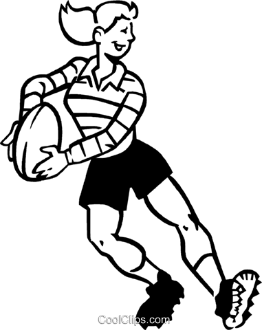 rugby player Royalty Free Vector Clip Art illustration vc060016