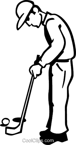 golfer Royalty Free Vector Clip Art illustration vc060018