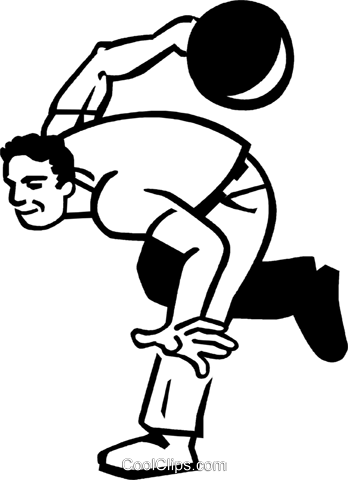 man bowling Royalty Free Vector Clip Art illustration vc060053