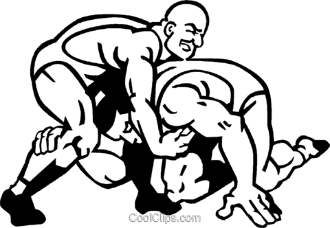 wrestling Royalty Free Vector Clip Art illustration vc060056