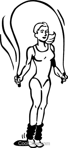 woman jumping rope Royalty Free Vector Clip Art illustration vc060060