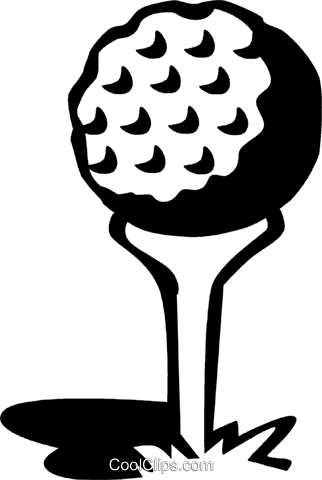 golf ball on a tee Royalty Free Vector Clip Art illustration vc060066