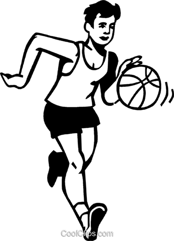 basketball player Royalty Free Vector Clip Art illustration vc060073