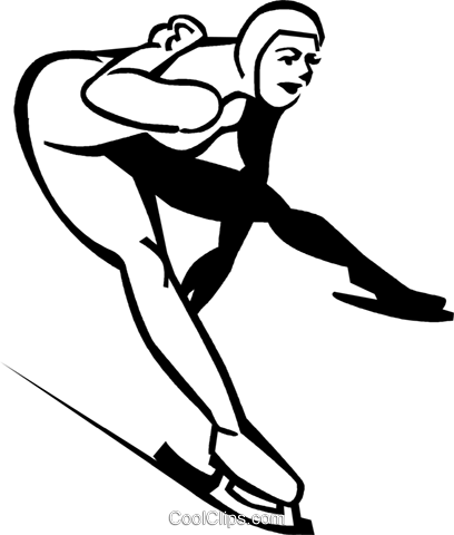 speed skater Royalty Free Vector Clip Art illustration vc060075