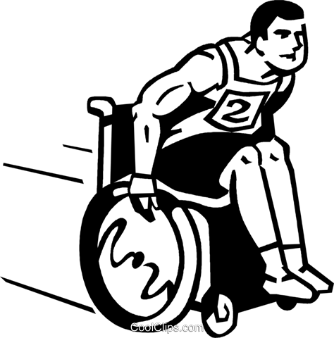 People with Disabilities Royalty Free Vector Clip Art illustration vc060082
