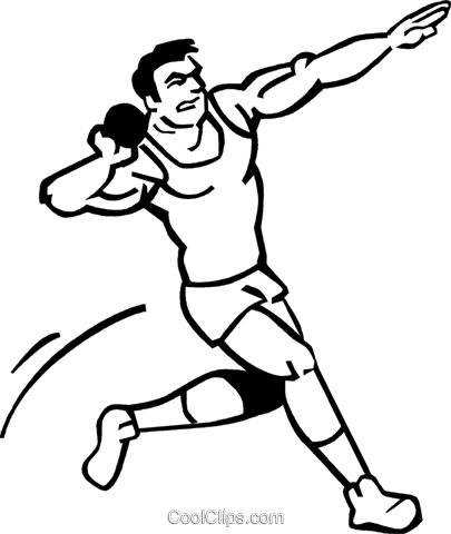 Shot-put Royalty Free Vector Clip Art illustration vc060084