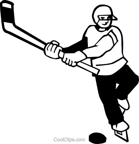 Hockey Player Royalty Free Vector Clip Art illustration vc060086
