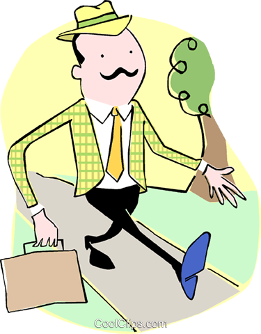 Businessmen Royalty Free Vector Clip Art illustration vc060109