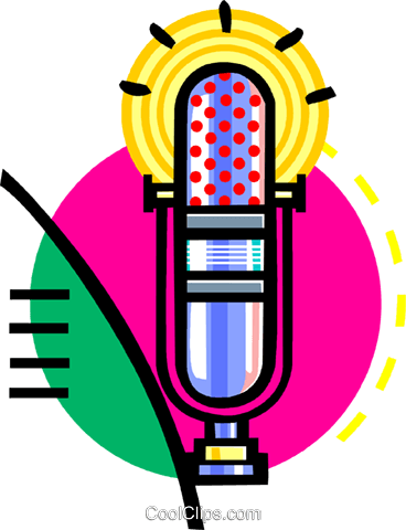 microphone Royalty Free Vector Clip Art illustration vc060117