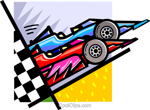 race cars Royalty Free Vector Clip Art illustration vc060118