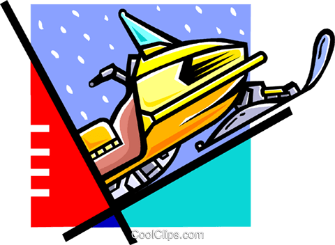 snowmobile Royalty Free Vector Clip Art illustration vc060119