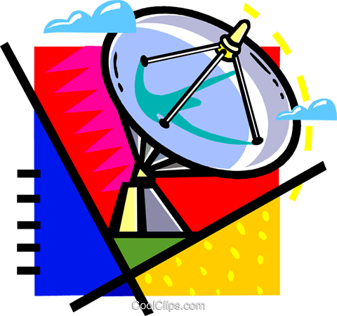 satellite dish Royalty Free Vector Clip Art illustration vc060121