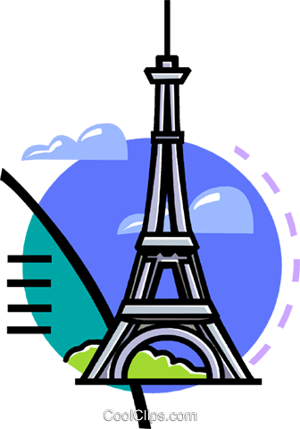 Eiffel Tower Royalty Free Vector Clip Art illustration vc060122