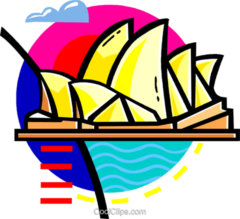 Opera House, Australia Royalty Free Vector Clip Art illustration vc060123