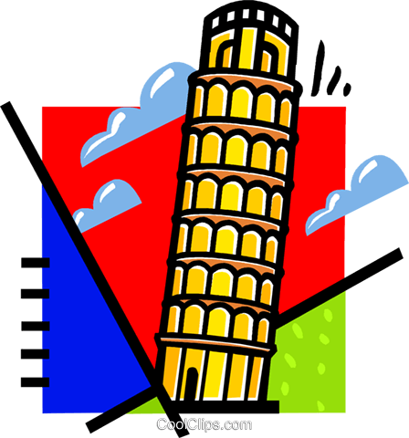 Leaning Tower of Pisa Royalty Free Vector Clip Art illustration vc060125