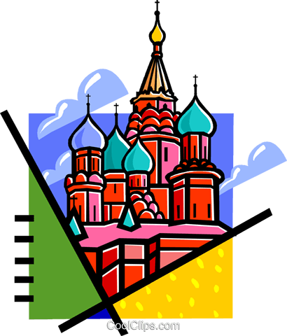 Russian buildings Royalty Free Vector Clip Art illustration vc060126