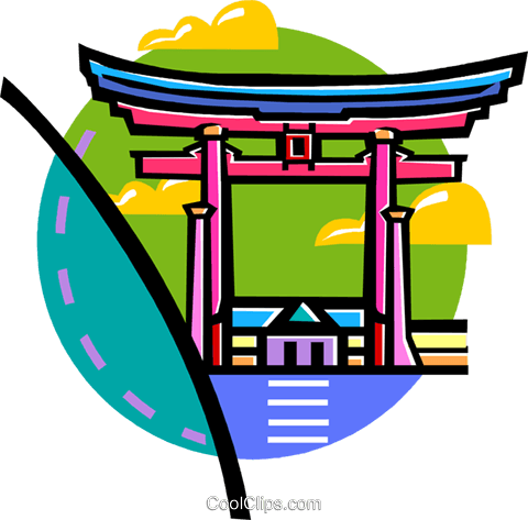 Asian temples Royalty Free Vector Clip Art illustration vc060127
