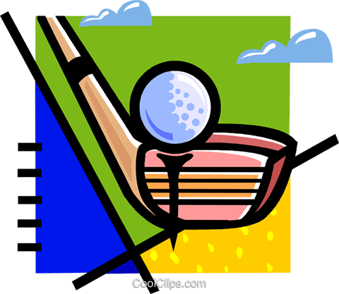 golf club and golf ball Royalty Free Vector Clip Art illustration vc060129