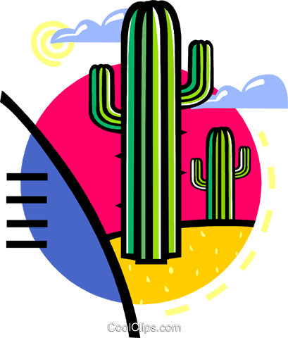 cactus Royalty Free Vector Clip Art illustration vc060130