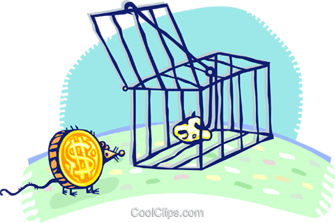 money trap Royalty Free Vector Clip Art illustration vc060143