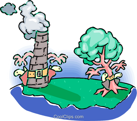 environmental showdown Royalty Free Vector Clip Art illustration vc060149