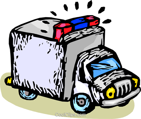 police paddy wagon Royalty Free Vector Clip Art illustration vc060151