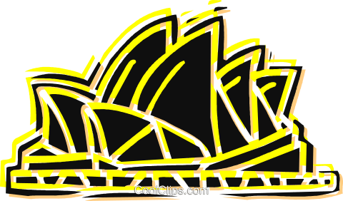 Opera House in Australia Royalty Free Vector Clip Art illustration vc060171