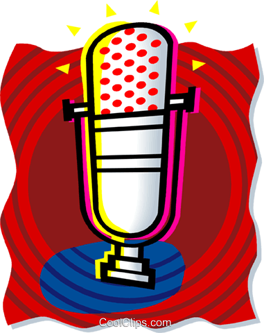 microphone Royalty Free Vector Clip Art illustration vc060186