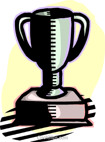 trophy Royalty Free Vector Clip Art illustration vc060195