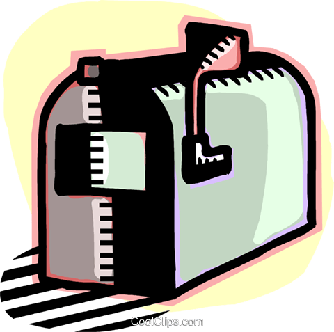 mailbox Royalty Free Vector Clip Art illustration vc060197