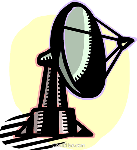 satellite dish Royalty Free Vector Clip Art illustration vc060200