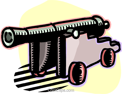cannon Royalty Free Vector Clip Art illustration vc060202