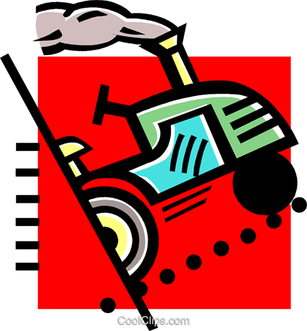 tractor Royalty Free Vector Clip Art illustration vc060222