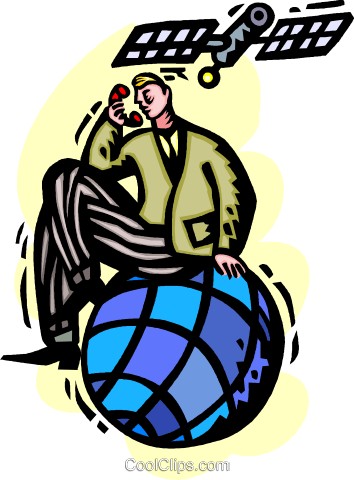 Satellite communications Royalty Free Vector Clip Art illustration vc060230