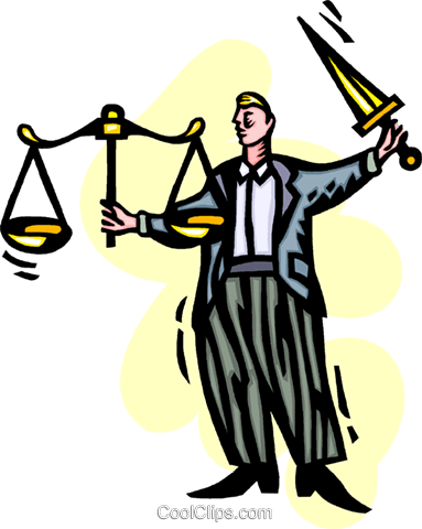 scales of justice Royalty Free Vector Clip Art illustration vc060237