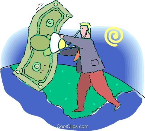 State of the economy Royalty Free Vector Clip Art illustration vc060254