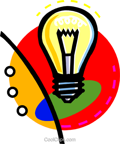 light bulb Royalty Free Vector Clip Art illustration vc060261