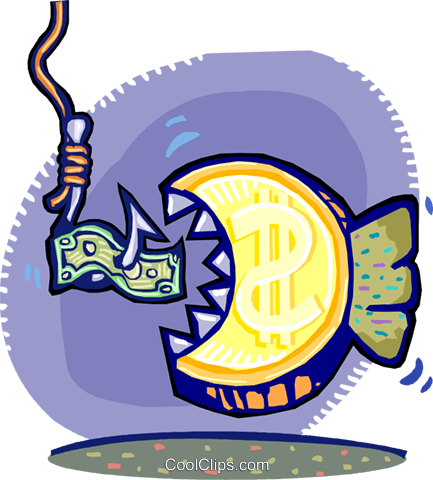 fishing for prospects Royalty Free Vector Clip Art illustration vc060268