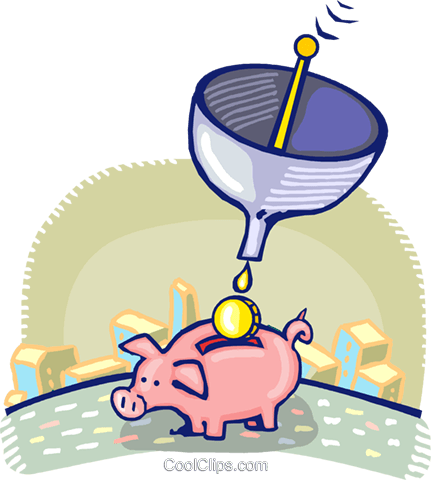 piggy bank Royalty Free Vector Clip Art illustration vc060269