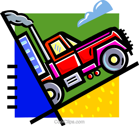 transport truck Royalty Free Vector Clip Art illustration vc060277