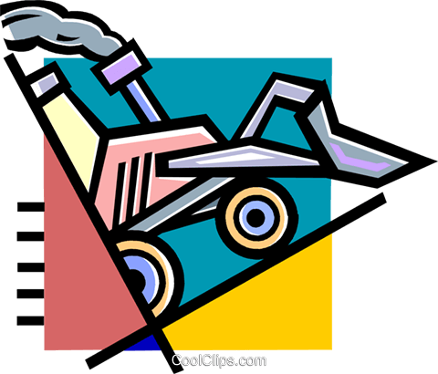 front end loader Royalty Free Vector Clip Art illustration vc060279
