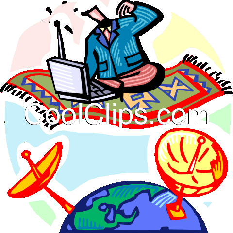 Global communications Royalty Free Vector Clip Art illustration vc060282