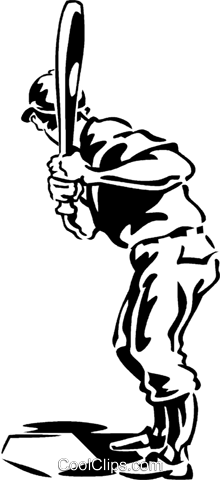 baseball batter Royalty Free Vector Clip Art illustration vc060288